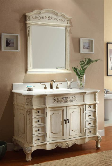 Antique White Bathroom by Guide To Antique White Vanities Interior Decorating