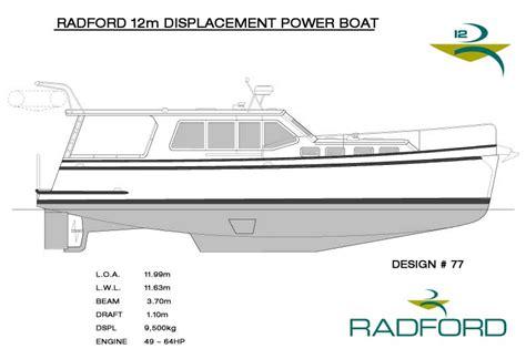 Home Design Plans radford yacht design radford 12m displacement power boat