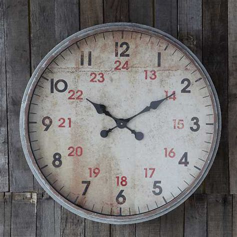 industrial look wall clock da2337 - Industrial Wall Clock