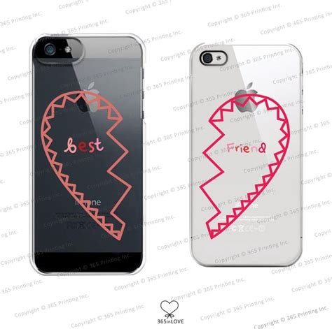 best galaxy s5 accessories best friends clear matching phone cases for bff iphone 4