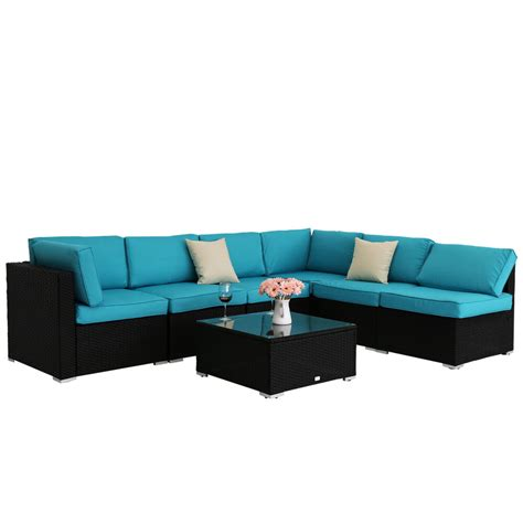 Sofa Outdoor Furniture by 7pcs Outdoor Patio Sofa And Table Set Sectional Garden