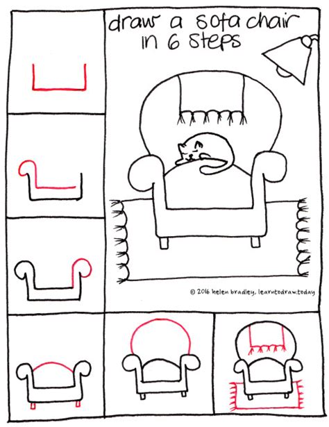 how to draw a couch easy learn to draw a sofa chair in 6 steps learn to draw