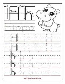 Worksheets printable letter h tracing worksheets for preschool