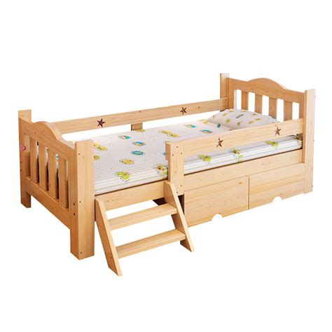 Childs Futon by Aliexpress Buy Solid Wood Children S Bed With Fence