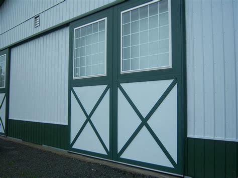 Sliding Pole Barn Doors Post Frame Building Door Options Conestoga Buildings