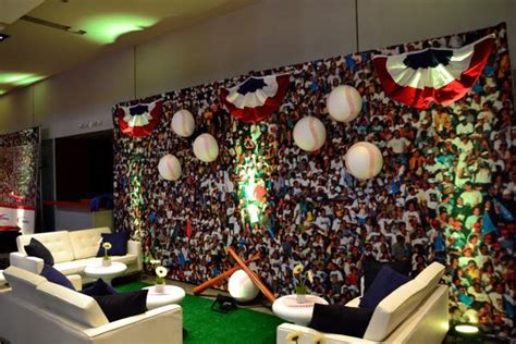 baseball decor and dye sub printed crowd backdrop