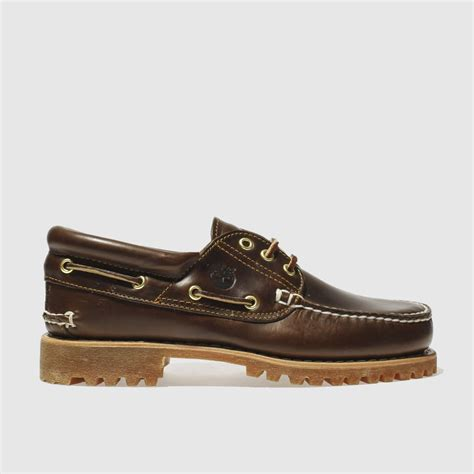 timberland boat shoes schuh mens brown timberland classic 3 eye boat shoes schuh