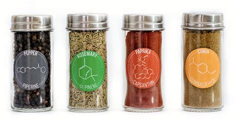 Herb And Spice Containers 30 Chemical Compound Herb Spice Jar Labels