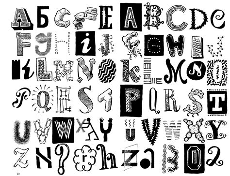 9 best images of cool letter designs t cool letter