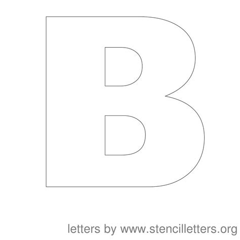 printable 11 inch letter stencils 9 best images of 6 inch printable block letters small