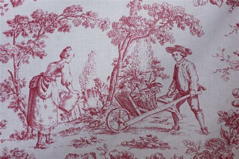 toile upholstery fabric toile fabric cventry red for drapery bedding upholstery