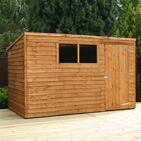 10 X 6 Wooden Shed 10 x 6 waltons overlap pent wooden shed