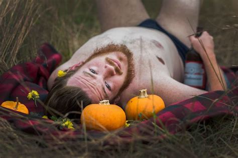 themed photoshoot this husband did a pumpkin themed dudeoir shoot for his