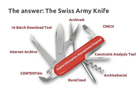 Swiss Army Knife 9 Tools 3009 lots of tools keep stuff safe the swiss army knife approach to digit
