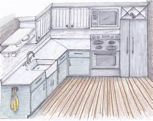 Kitchen Drawings by Dream Kitchen Sarah Catherine Design