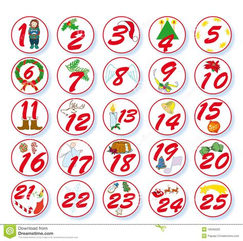 Wall Stickers Circles numbers for advent calendar printable blank calendar 2017