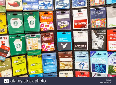 Walgreens Sell Gift Cards - miami beach florida walgreens sale display organized gift cards stock photo royalty
