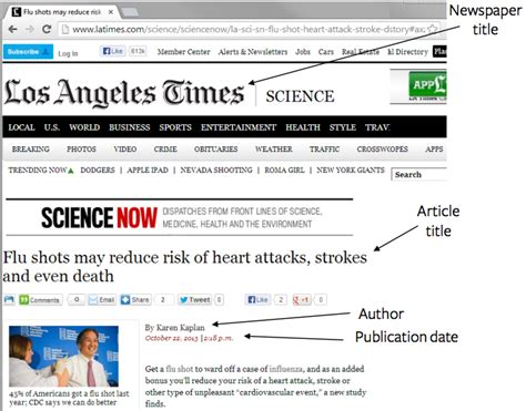 apa format newspaper article online how to cite a newspaper in apa easybib blog