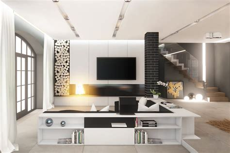 black and white tv room 30 black white living rooms that work their monochrome magic