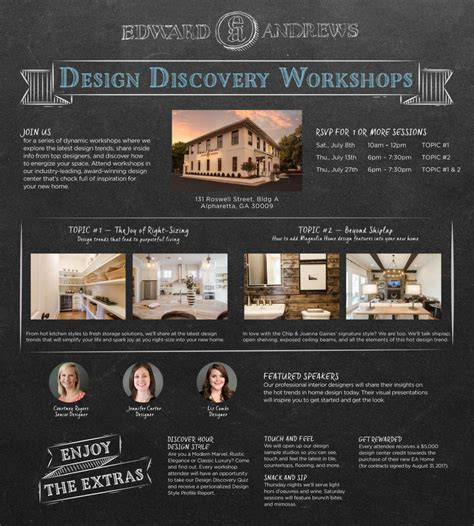 discovery homes design center design discovery workshop july 27 chance edward