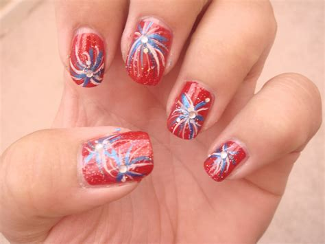 new year pedicure design fourth of july nail designs pccala