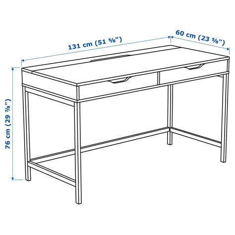 how to fit a desk in a small bedroom alex desk white 131 x 60 cm ikea