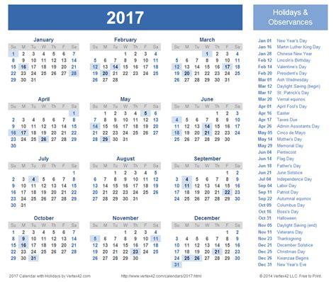 Printable Accounting Calendar 2017   2017 Calendar Printable