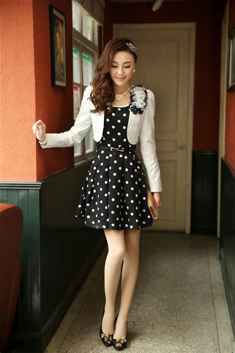 Cotton Korea Dress Blue Size S M L 61342 summer korean style slim sleeve two