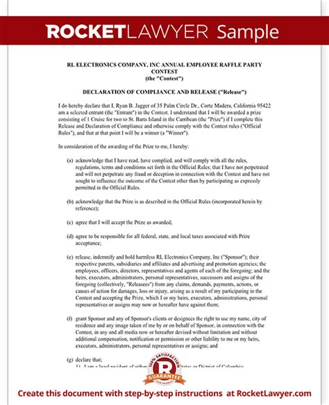 Sweepstakes Contest Rules - sweepstakes rules template free printable documents