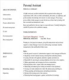 personal assistant resume 4 free word pdf documents
