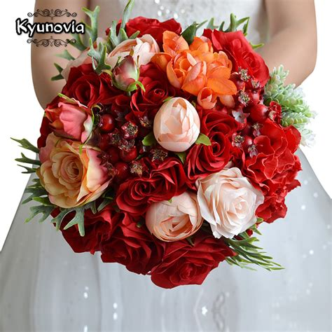 Wedding Bouquet Accessories by Kyunovia Wedding Flowers Bridal Bouquet Roses Bouquet