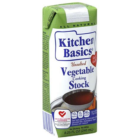 Kitchen Basics Vegetable Stock by Kitchen Basics Unsalted Vegetable Stock 8 25 Fl Oz Pack