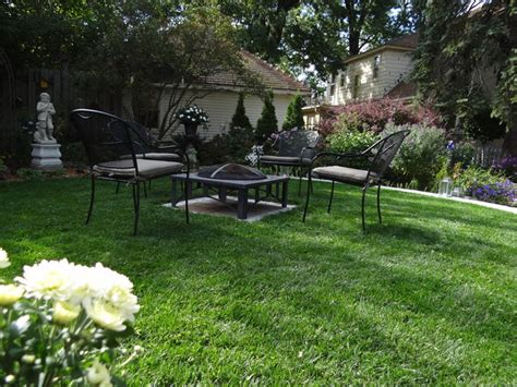 Backyard Seating by Formal Backyard Seating Area Traditional Landscape