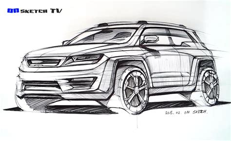 sketch design 온스케치 tv sketch quot suv concept design ballpen sketch