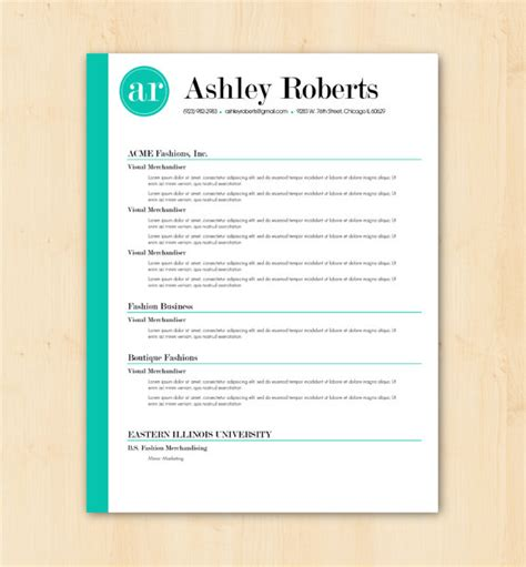 resume template word document resume template cv template the by phdpress
