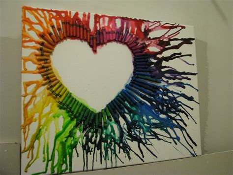 crayon hearts a million shades of purple melted crayons