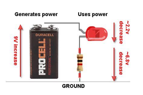 resistor for led 9v battery forward voltage and kvl all about leds adafruit learning system
