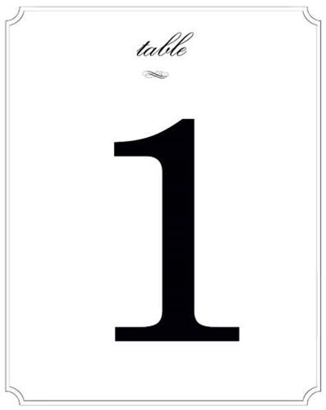 templates for table numbers wedding table numbers label templates ol475