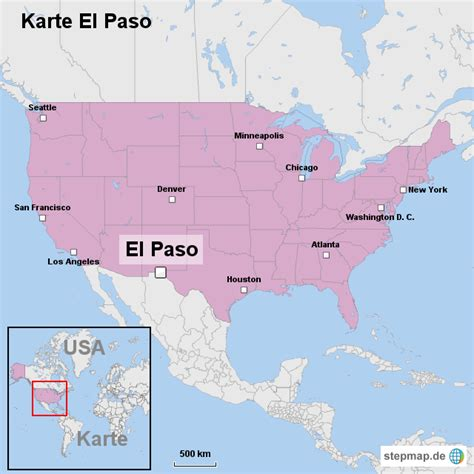 where is el paso located in california usa karte el paso von ortslagekarte usa landkarte f 252 r die usa