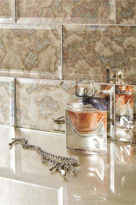 mirrored subway tiles glass bevel metro subway tiles feature a striking antique