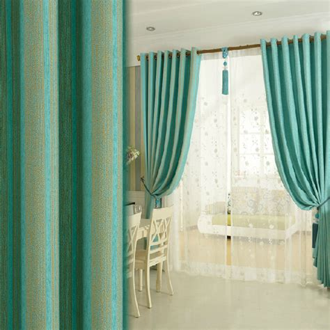 teal print curtains custom teal chenille print striped curtains blackout