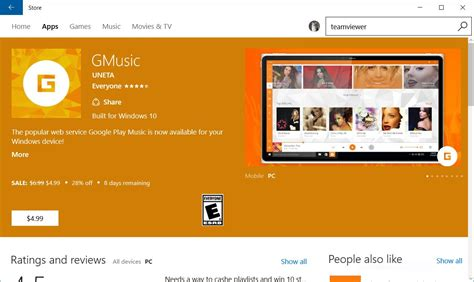 Play Store For Windows 10 Play Client Gmusic Launches As Windows 10