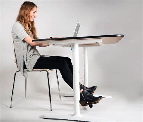 footrest for standing desk hovr footrest helps you move without leaving your workstation homecrux