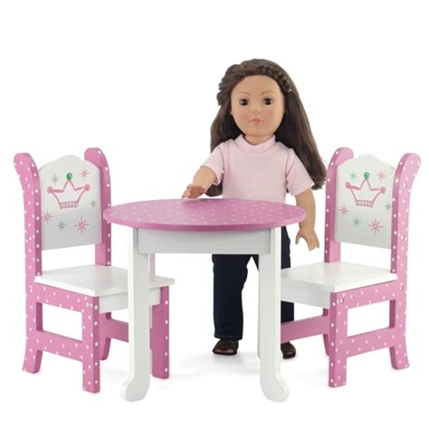 18 doll furniture table and chairs 18 inch doll furniture table and 2 chairs fits