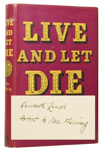 just let me live books live and let die a bond novel by 1908 1964 ian