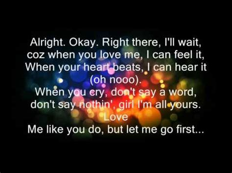 justin bieber love me like you do acoustic love me like you do justin bieber lyrics youtube