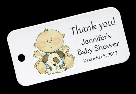 Unique Baby Shower Thank You Gifts by Baby Shower Favor Tags Personalized Tag Baby Boy Gift