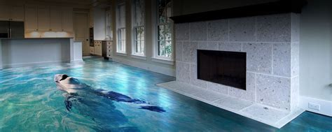 Flooring: 3d Epoxy Floors Interior   3D & Metallic