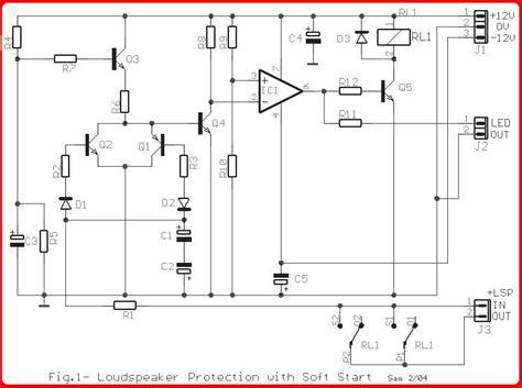 Speaker Protektor skema rangkaian lifier protektor speaker