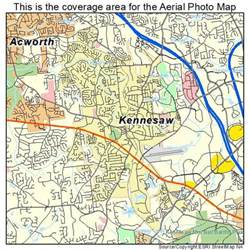 aerial photography map of kennesaw ga